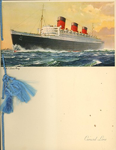 Lot of Souvenirs and Information Pamphlets From a Transatlantic Voyage Aboard Cunard White-Star's RM.'S Queen Mary in July of 1953, Including Menus, Post Cards, Programs from Concerts, Passenger List