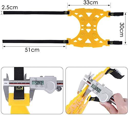 Fixkit Lot de 6 chaînes à neige universelles antidérapantes pour voiture avec largeur de pneu 165 mm à 275 mm