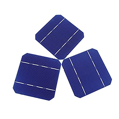 20/80/108/120/160/200 5x5 Mono Solar Cells High Power for DIY 50W Solar Panel 2.6W/pc Gift