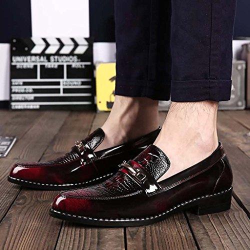 ZXCV Zapatos al aire libre Los zapatos de los hombres acentuados zapatos perezosos un pedal set pies zapatos Rojo