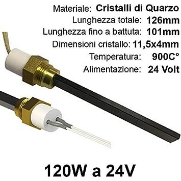 Easyricambi Resistencia de en Cristales de Cuarzo A 24 V de 120 W para Encendido Estufa