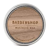Facial Hair Competition - Barbershop Mustache Wax by The Bearded Bastard | A Strong Hold | Mustache Grooming, Men's Grooming, Hydrating, Essential Oils, Beeswax, Jojoba Oil, Men's Care, Facial Hair Products | ALL NATURAL, 1oz