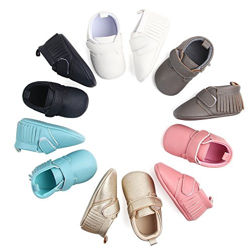 Amiley Baby First Crib Shoes,Infant Toddler Baby Girls Tassel Baseball Non-Slip Shoes Newborn Flats Sneakers Shoes (US2.5(10.5CM/4.1
