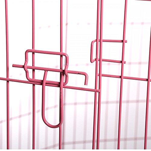 Amazon.com : BestPet Metal Wire Playpen, Black/Blue/Pink and Zinc ...