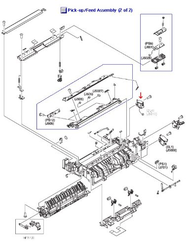 RK2-0145-000CN - Hewlett Packard (HP) Printer Miscellaneous (Hewlett Packard Solenoid)
