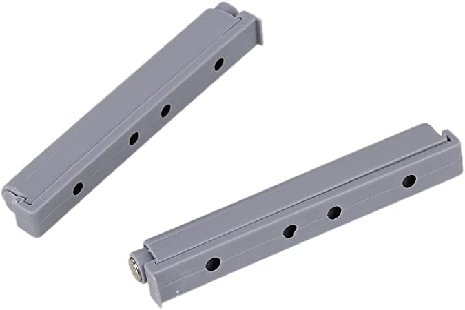 Gris magn/étique placard et tiroir de meuble en plastique Syst/ème Push Open Syst/ème amortisseur pour Tampons-Lot de 2