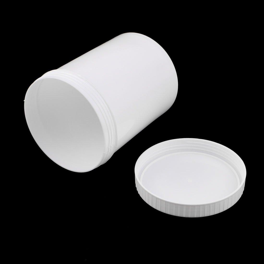 eDealMax 2pcs 1000ml de impresión de plástico del depósito de Tinta en polvo de almacenamiento de sellado tarro Espesar Blanca: Amazon.com: Industrial & ...