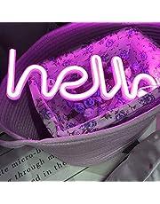 LED neon letters lichten Hallo vorm lichtreclame woord licht kunst decoratieve lichten wanddecoratie voor nachtlicht lichte lamp woorden voor babykamer, hotel, indoor bruiloft (roze hallo)