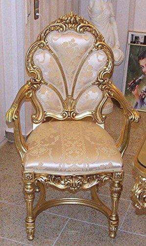 Barock Armlehner Stuhl Antik Stil Rokoko Vp9958