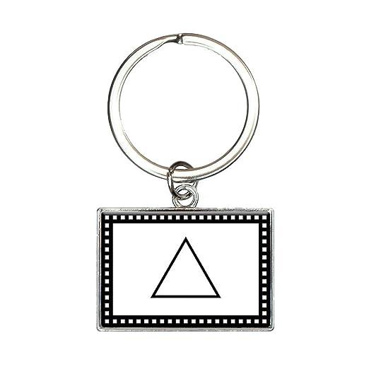 Amazon Alchemy Fire Symbol Rectangle Keychain Key Ring Clothing