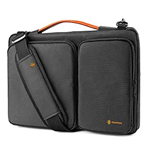 tomtoc Laptop Shoulder Bag for 2018 New 13-inch MacBook Air Retina Display | New 13-inch MacBook Pro USB-C | Microsoft Surface Pro 6/5/4, Original 360° Protective Case with CornerArmor & Accessory Pockets