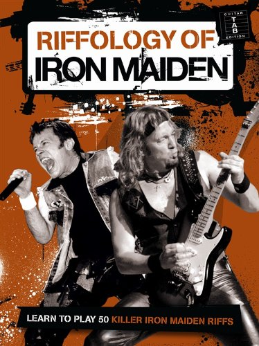 Riffology Of Iron Maiden. Partitions pour Guitare, Tablature Guitare (Iron Maiden Sheet Music)