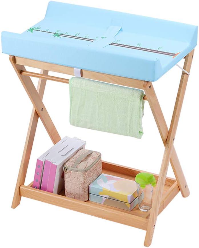 QZ Cambiadores de pañales Cambiador de bebé Plegable para Espacios pequeños, tocador de estación de Cambio Infantil para niño niña, Azul
