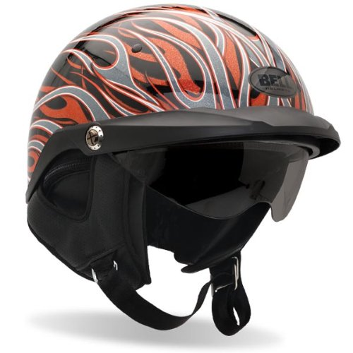 Bell Pit Boss Open Face Motorcycle Helmet (Flames, Large) (Non-Current Graphic)