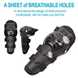 4Pcs Motorcycle Knee Elbow Pads Protection