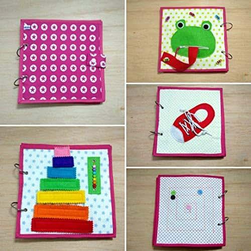 Libro sensorial de tela y fieltro babybookspain: Amazon.es