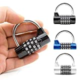 VT BigHome Travel Small Security Lock U-Shaped Password Gym Coded Lock Club Cupboard Cabinet Suitcase 5 Dial Digit Number Padlock