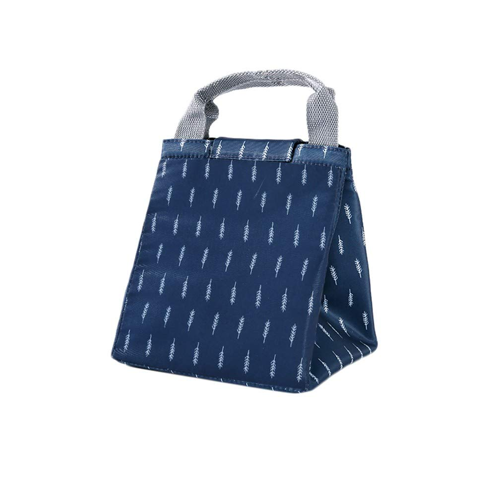 Seamount Trendy Lunch Bag Insulated Pouch Thermal Tote (Navy) by Seamount (Image #1)