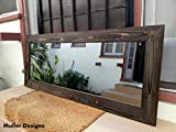 Cheap Wood black mirror/ full length mirror/ handmade/