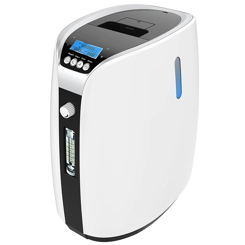 HUKOER Portable Travel Oxygen Concentrator Generator filters in air ,30%-90% High Purity 1-5L/min Flow, Adjustable Air Purifier O2 Producer AC 110V (portable)