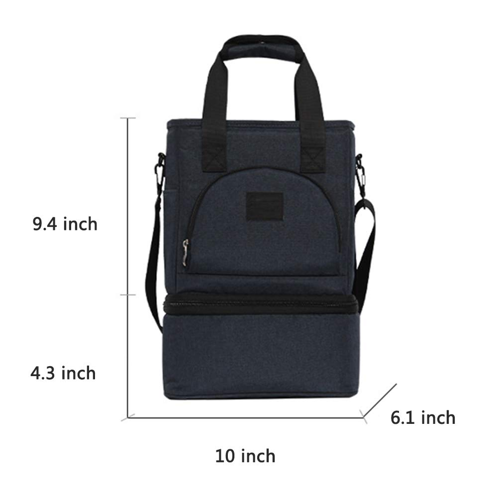 067705f5c2f4 BAIEDIII Insulated Lunch Bag Leakproof Lunch Bag for Adults Lunch ...