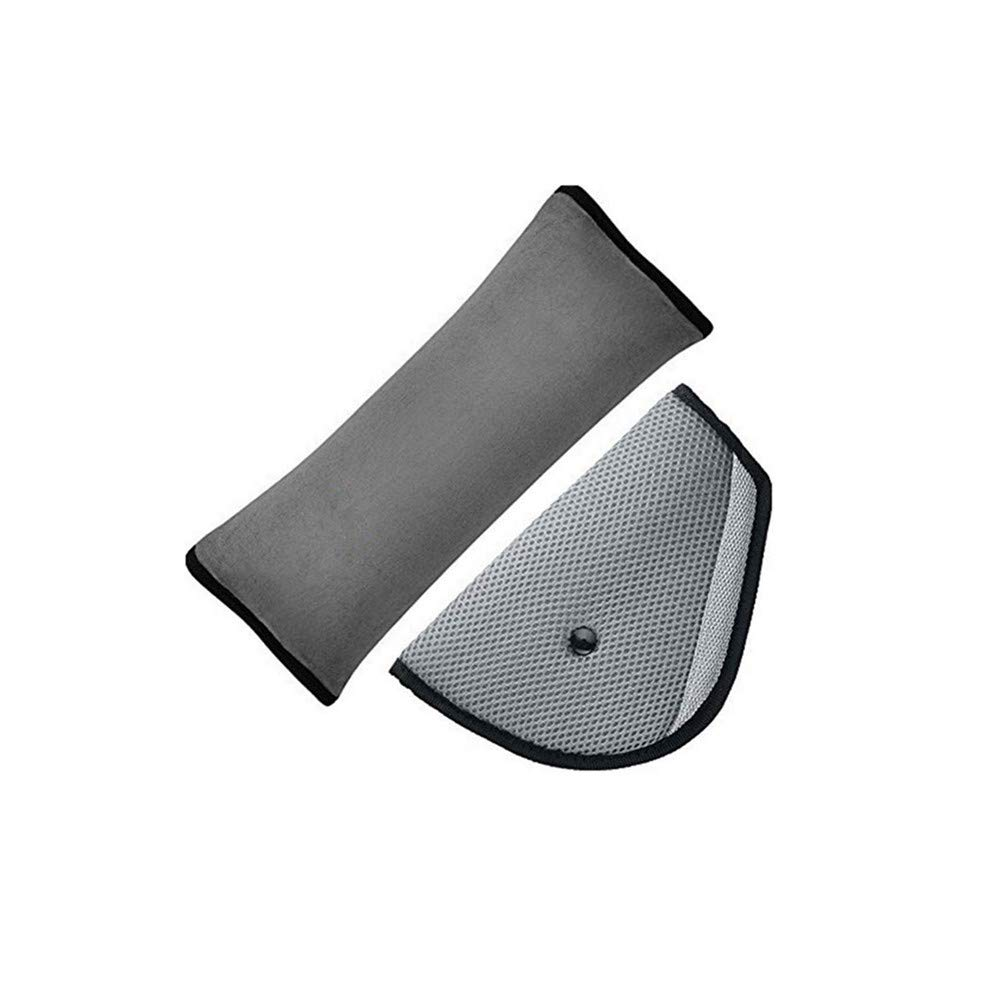 AISIBO Seat Belt Cover, Car Seatbelt Pillow for Kids, Safety Belt Strap Protector, Shoulder Adjuster Pad Children Baby Adult Vehicle Headrest Neck Support (Gray)