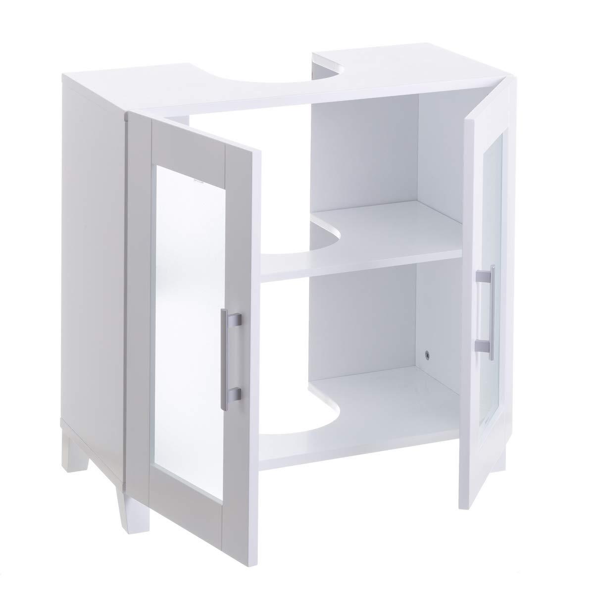 Armario bajo Lavabo Blanco de Madera Moderno para Cuarto de baño ...