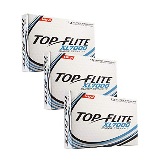(Top Flite XL 7000 Super Straight Golf Balls (3 Boxes - 36 Balls))