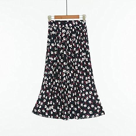 buluke gasa faldas plisado de cientos, Floral falda Casual/diario ...