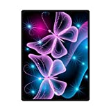 'HommomH' 60' x 80' Blanket Air conditioning Easy Care Machine Wash Beautiful Butterfly Wallpaper Abstract