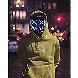 QUALITYDEPOT USA Stock Halloween Mask LED Light up Purge Mask for Festival Cosplay Halloween Costume
