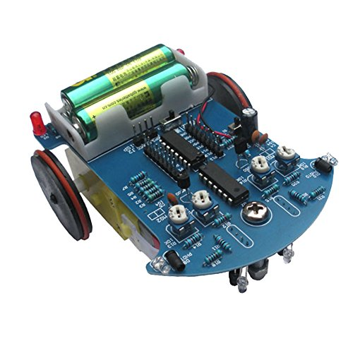 Icstation C51 Smart Tracking IR Obstacle Avoidance Robot Car DIY Electronics Soldering Kit with Reduction Motor (Basic Robot Kits compare prices)