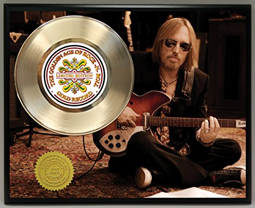 Tom Petty Limited Edition Gold Record Poster Art Music Memorabilia Display Plaque