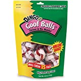 Dingo Goofballs Chicken & Rawhide Chews, Small, 15-Count(2Pack)