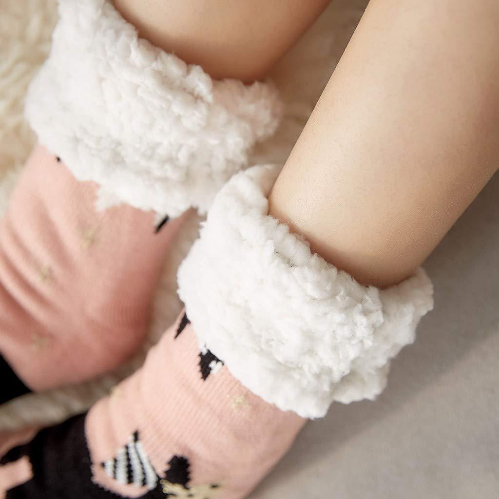 GNYD Chaussettes Homme Coton Dim Fantaisie Sport Fil DEcosse Les Chaussettes De Coton DHiver De Femmes Impriment Des Chaussettes De Plancher Antid/éRapantes Plus /éPaisses Des Chaussettes De Tapis