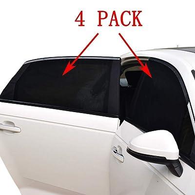 Car Window Shade -4 PACK- Car Sun Shade for Baby Car Side Rear Sun Shade Front Window Sunshade for Cars Trucks & SUVs: Automotive