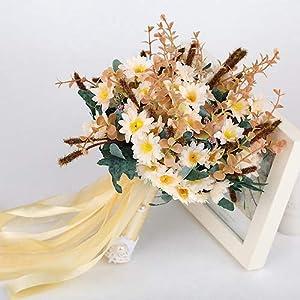 Hozhang Bouquet De Mariage Artificial Wedding Flowers Wedding Bouquet for Brides Outside Wedding Brooch Bridal Bouquets 46