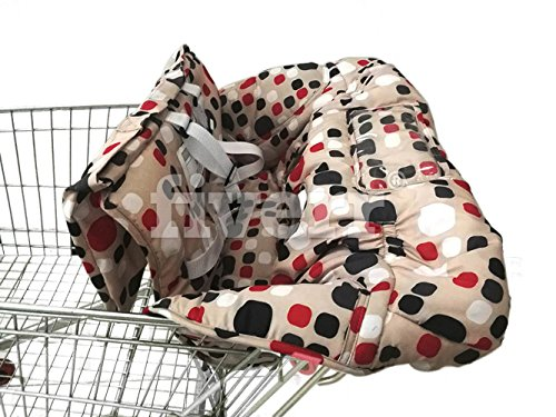 Shopping Cart Cover | High Chair Cover For Baby | Includes Carrying Bag (Red) from Brain Architect Child