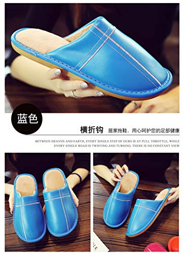 Women's Slippers Shoes Blue Wall Indoor Slip Outdoor Floor Comfortable Shoeshouse And Warm Men's onleather Cotton Night amp; OfqHIvq