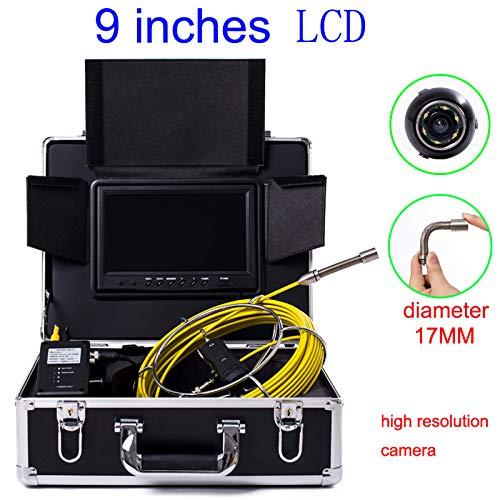 9インチ17mm 産業パイプライン下水道検出カメラ IP68 防水排水検出 1000 TVL カメラ (30M)   B07PZBLMJD