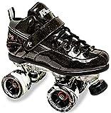 Sure-Grip Rock GT50 Sparkle Roller Skates (Black, Mens 7 / Womens 8-8.5)