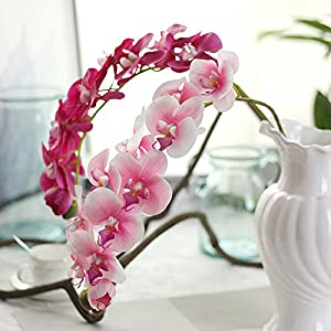 Miracliy 1 Piece Artificial Butterfly Orchid Flower for Home Office Party Decor 4