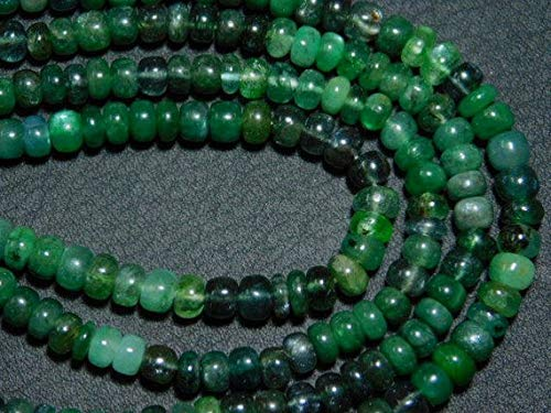 """Emerald Faceted Dew Drops Briolettes- 8"""" Strand -Stones Measure- 10-17mm by Gemswholesale"""