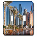 3dRose Danita Delimont - Cities - UAE, Abu Dhabi. Etihad Towers and Emirates Palace Hotel fountains - Light Switch Covers - double toggle switch (lsp_277135_2)