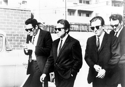 Reservoir Dogs b/w Crew Tarantino Huge Vintage PAPER Movie Poster Measures 40 x 27 Inches (100 x 70 cm ) approx