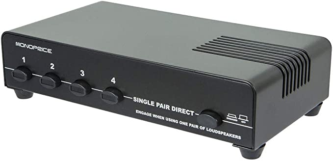 Monoprice 10-Channel Speaker Selector - Black Up to 1100W Per Ch. Distribute  Speakers, Perfect for Home Theater Audio
