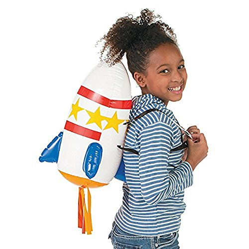 Fun Express Inflatable Space Rocket Backpack Toy - 1 Piece