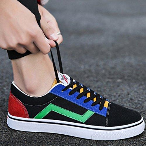 da scarpe stile Color di Green YaNanHome nuovo Estate uomo tela Red basse da giovanile da stile coreano Size Scarpe Espadrillas Scarpe moda uomo Scarpe di 42 Yp6WUp14T