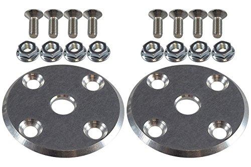 Billet Aluminum Hood Pin Plate Kit Replacement Plates - Aluminum Hood Billet