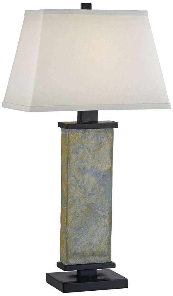 Kenroy home 21037sl hanover table lamp natural slate amazon mozeypictures Image collections
